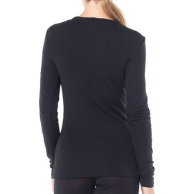 Icebreaker 175 Everyday Longsleeve Scoop Top Dames, black